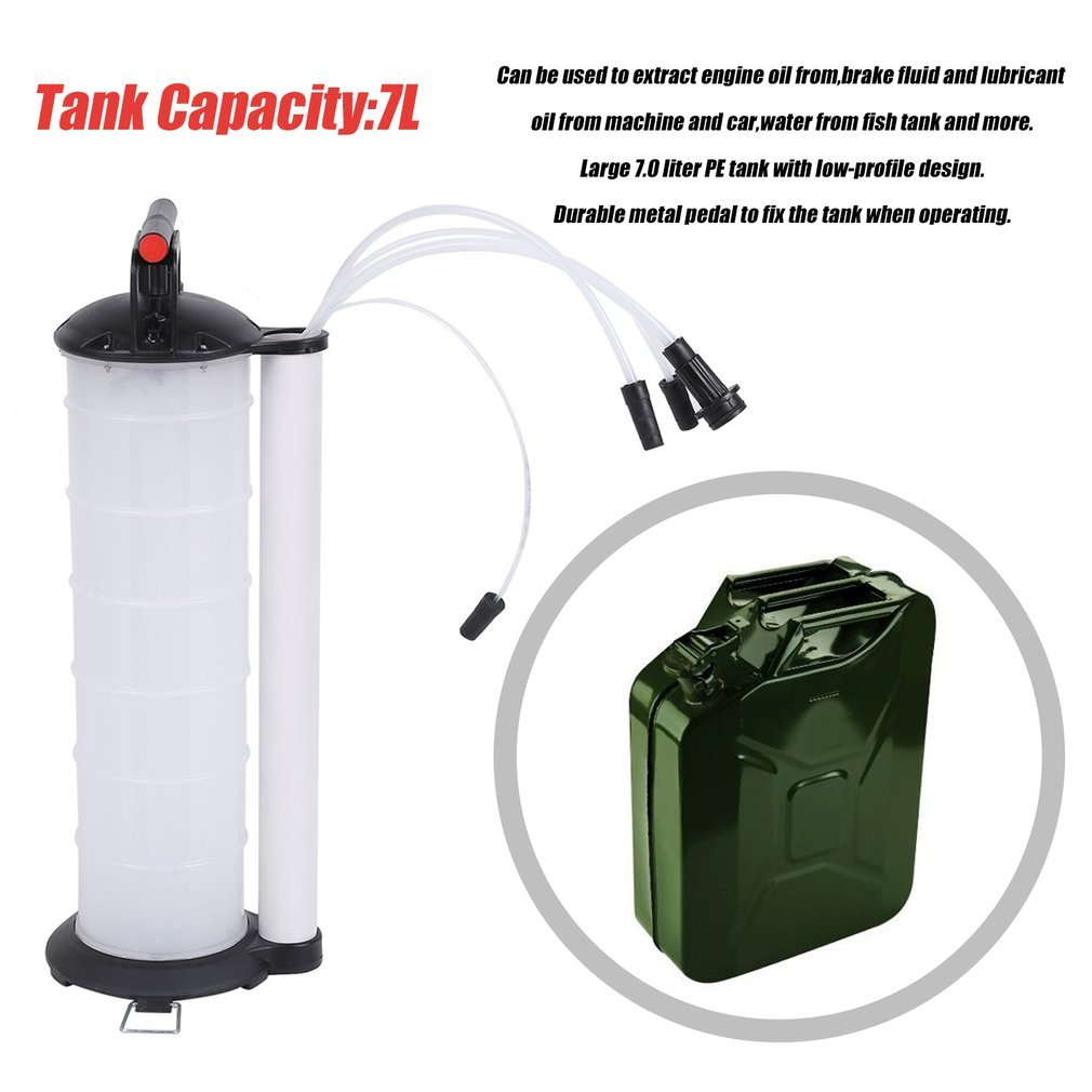 CATUO 7 Liter Manual Fluid Extractor with 4 Hose for Automotive | 7L Vacuum Oil Extractor Manual Fluid Fuel Petrol Syphon Pump Transfer Suction - 4MM/6MM/8MM/10MM Hose Diameter by CATUO (Image #4)