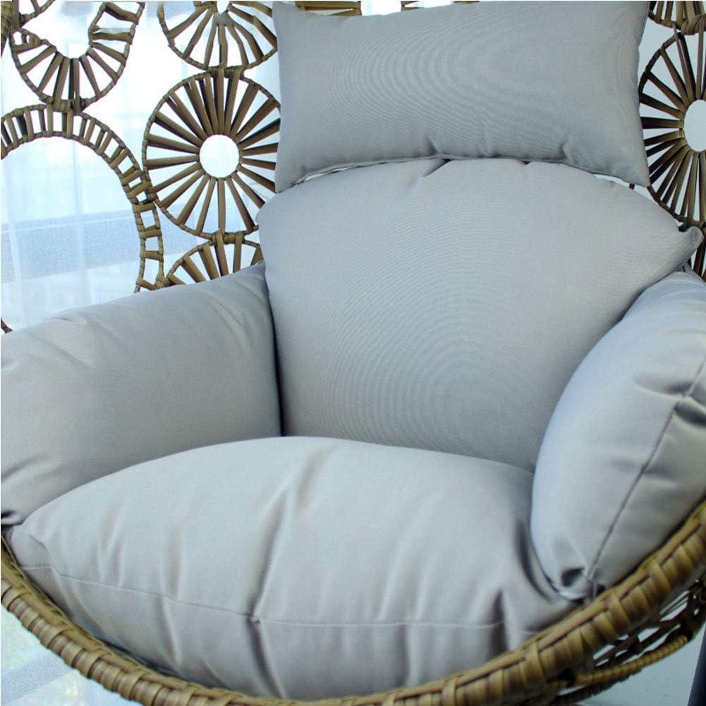 TOBY Ratán de Mimbre Colgante Huevo Almohadillas para sillas, Aire Libre Patio Balcones Salón H 120x85x15cm(47x33x6inch)