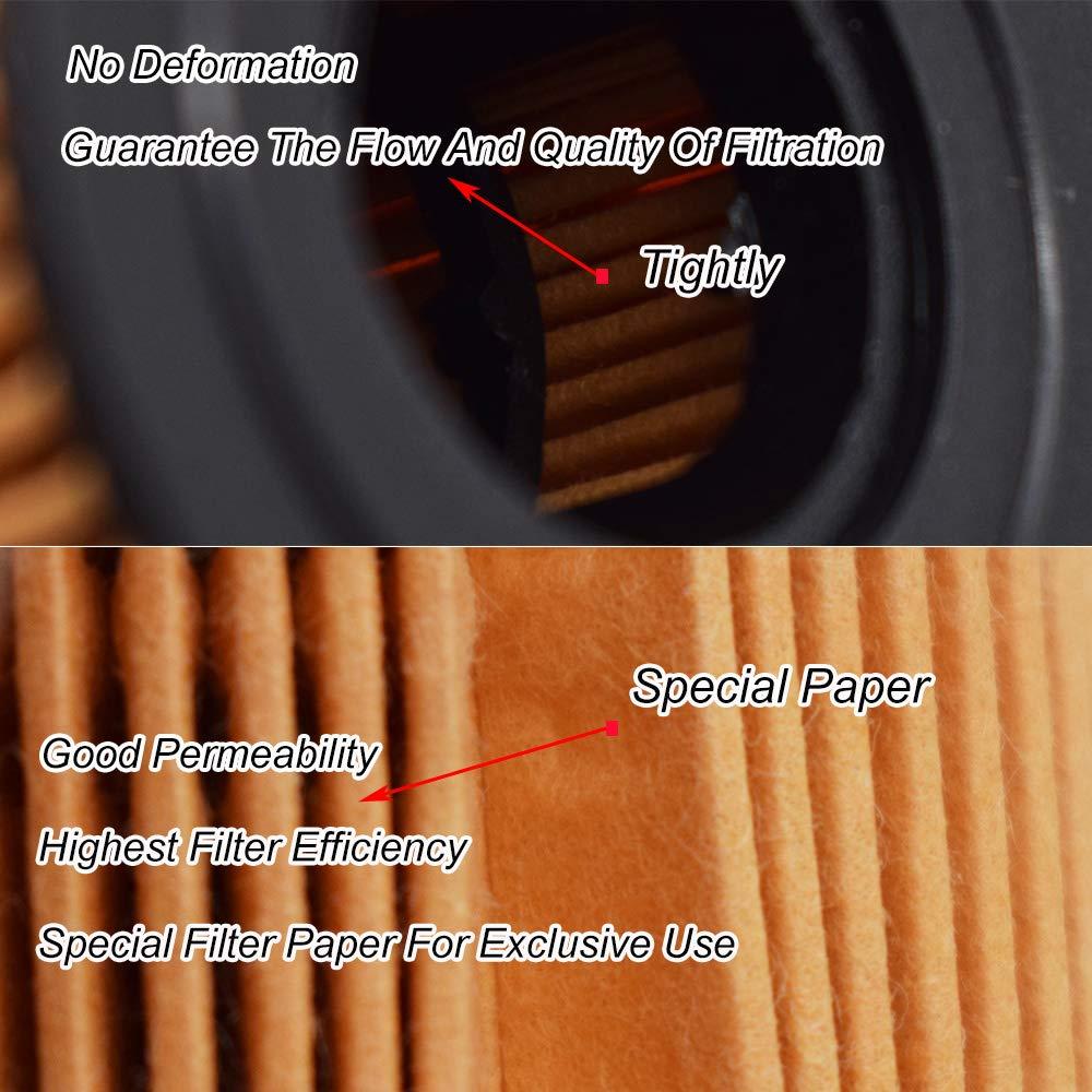 5Pcs Oil Filter 68191349AA For Thema LX 2011-19 Voyager 11-2014//300 C//Freemont JC//Wrangler 3.6L V6 Engine