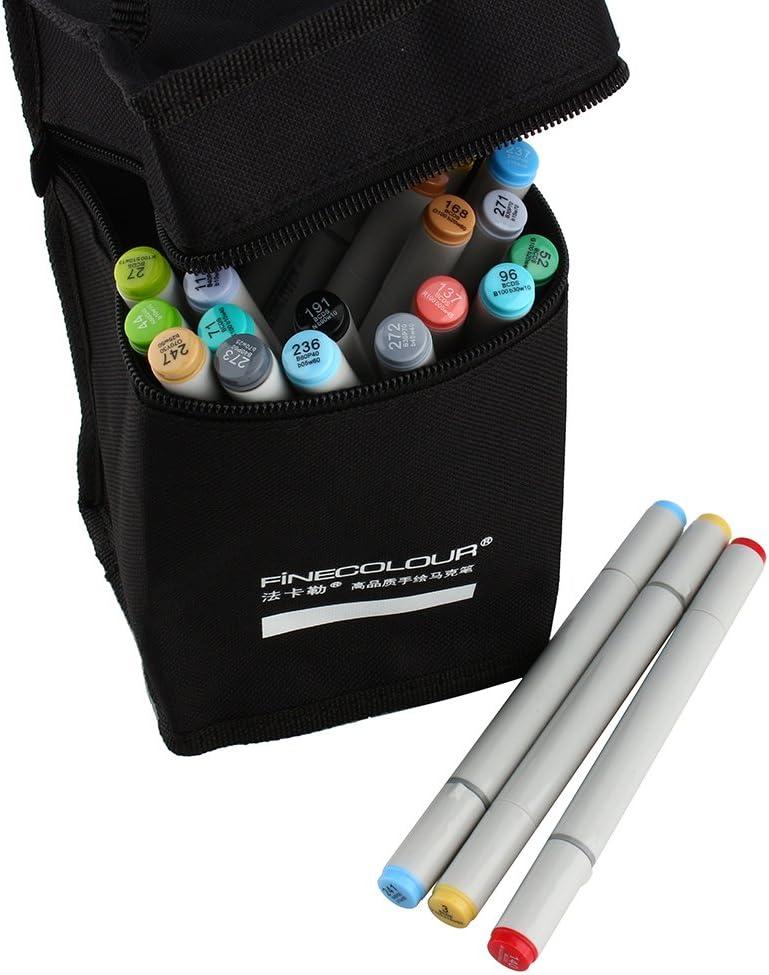 Borsa di archiviazione 24 Colores Finecolour Set EF101/Artista colorato Bosquejo del Pennarello pittura grafica maniche