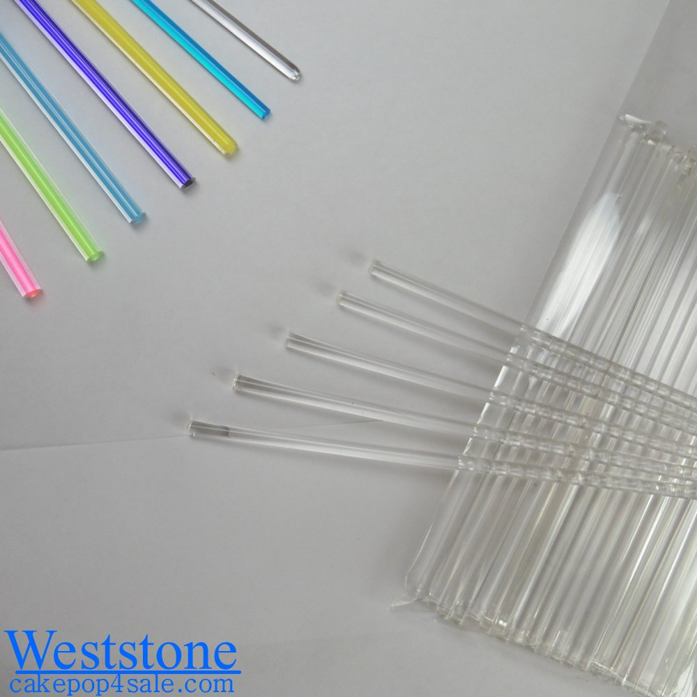 Weststone - 50pcs 8'' X 5/32'' Crystal Clear Lollipop Sticks for Cake Pops Lollipop Candy …