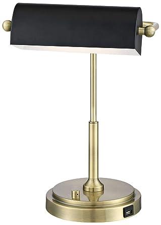 Lite Source Caileb Antique Brass Banker Piano Led Desk Lamp