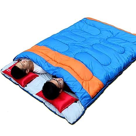 MIAO Saco de dormir - Camping para adultos al aire libre Personas dobles Sacos de dormir