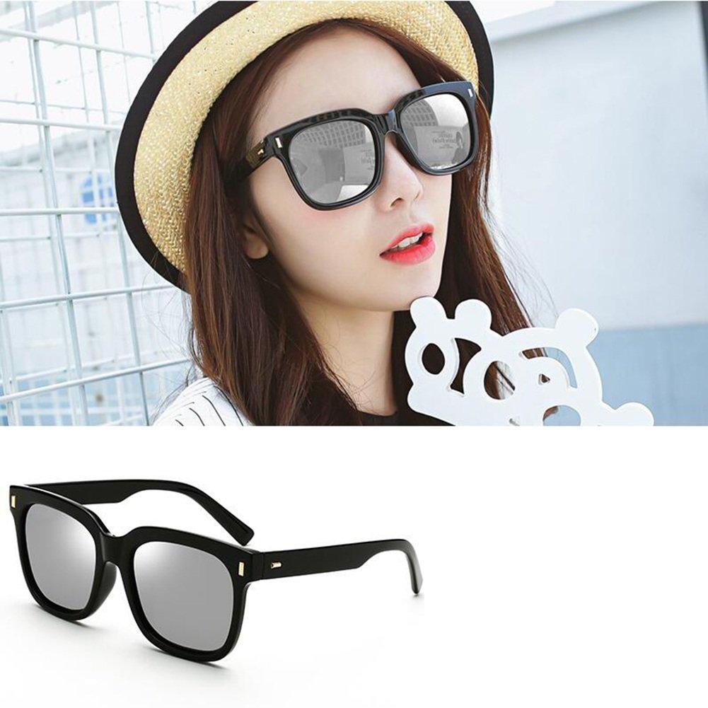 Sunny HONEY Hombres Y Mujeres Gafas De Sol Personalizadas - Gafas Protectoras Polarizadas UV400 (Color : Black/Water silver): Amazon.es: Jardín