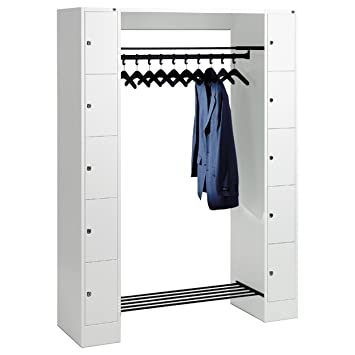 Super Offene Garderobe für 10 Personen Garderobenschrank Wertfachschrank UI85