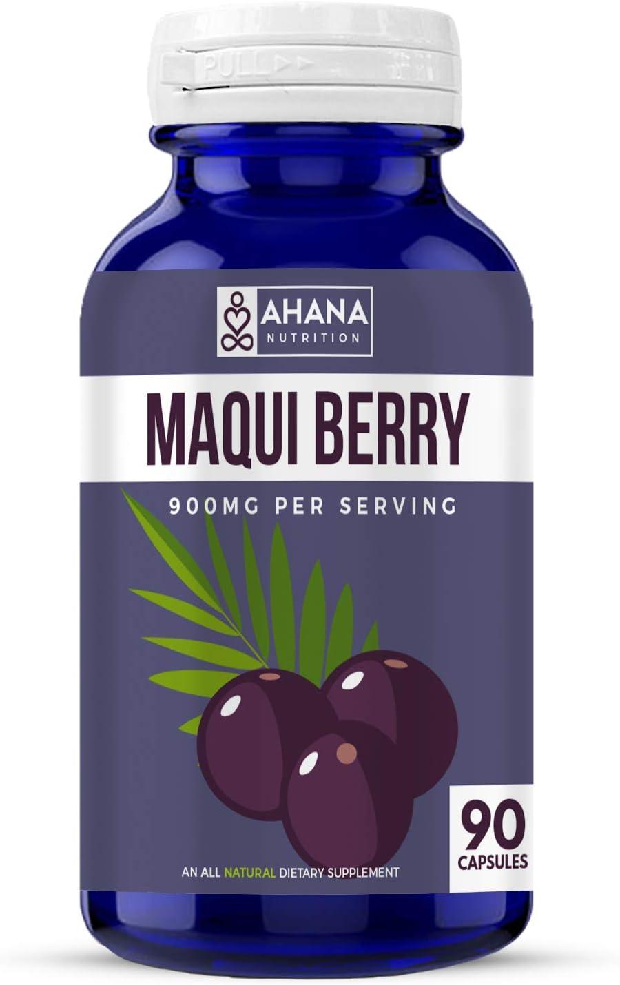 Amazon Com Ahana Nutrition Maqui Berry Capsules Superfruit