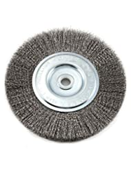 Forney 72747 Wire Bench Wheel Brush, Fine Crimped with 1/2-In...
