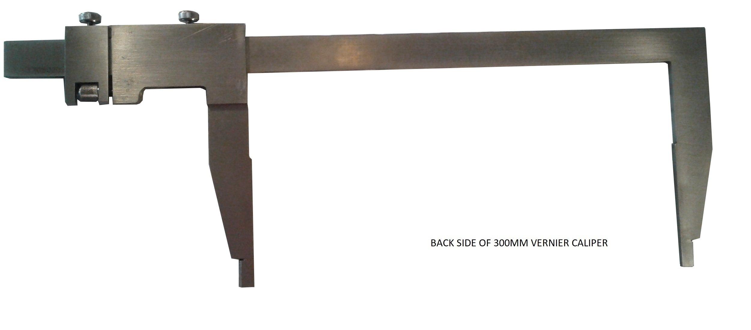 Long Jaw Vernier Caliper 300mm 12'' Heavy Duty Steel w/ Case by Generic (Image #3)