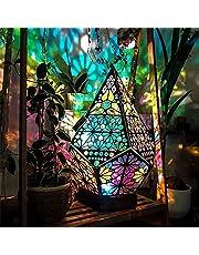 Diamond lamp LED projection Bohemian floor decorative lamp Polar Star Large Floor Lamp,Colorful Diamond Lights,Bohemian Floor Decorative Lamp,Colorful 3D Projection Hollow lamp,Table Lamps