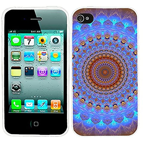 iPhone 4s Case, iphone4s case,iphone 4 case,iphone4 case, ChiChiC full Protective unique Stylish Case slim flexible durable Soft TPU Cases Cover for iPhone 4 4g 4s,geometric blue brown (Iphone 4 Case Artsy)