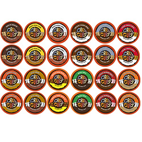 Crazy Cups Flavored Coffee and Chocolate Flavored Coffee, Single Serve Cups Variety Pack Sampler for the Keurig K Cup Brewer, 48 count