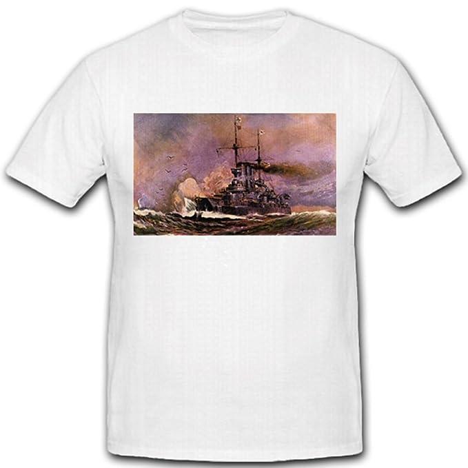 Copytec Ironclad SMS Prusia tanque WK fregatten Torre Barcos Kaiser liche Marino Kase Mate Barco Prusia - Camiseta # 2119: Amazon.es: Ropa y accesorios