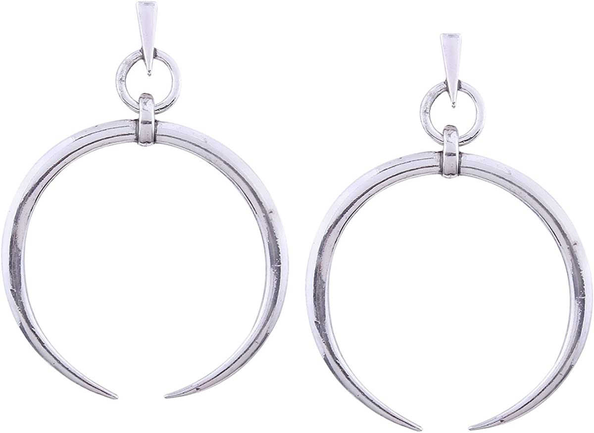 Hoop Earring Silver Gold Color Irregular Geometric Circles Earring For Women Girl Party Birthday Gift