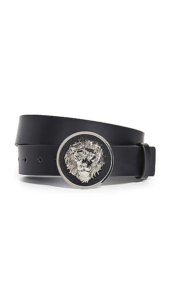 19c9f02da8eb62 Versus Versace Lion Head Belt in Black: Amazon.co.uk: Clothing