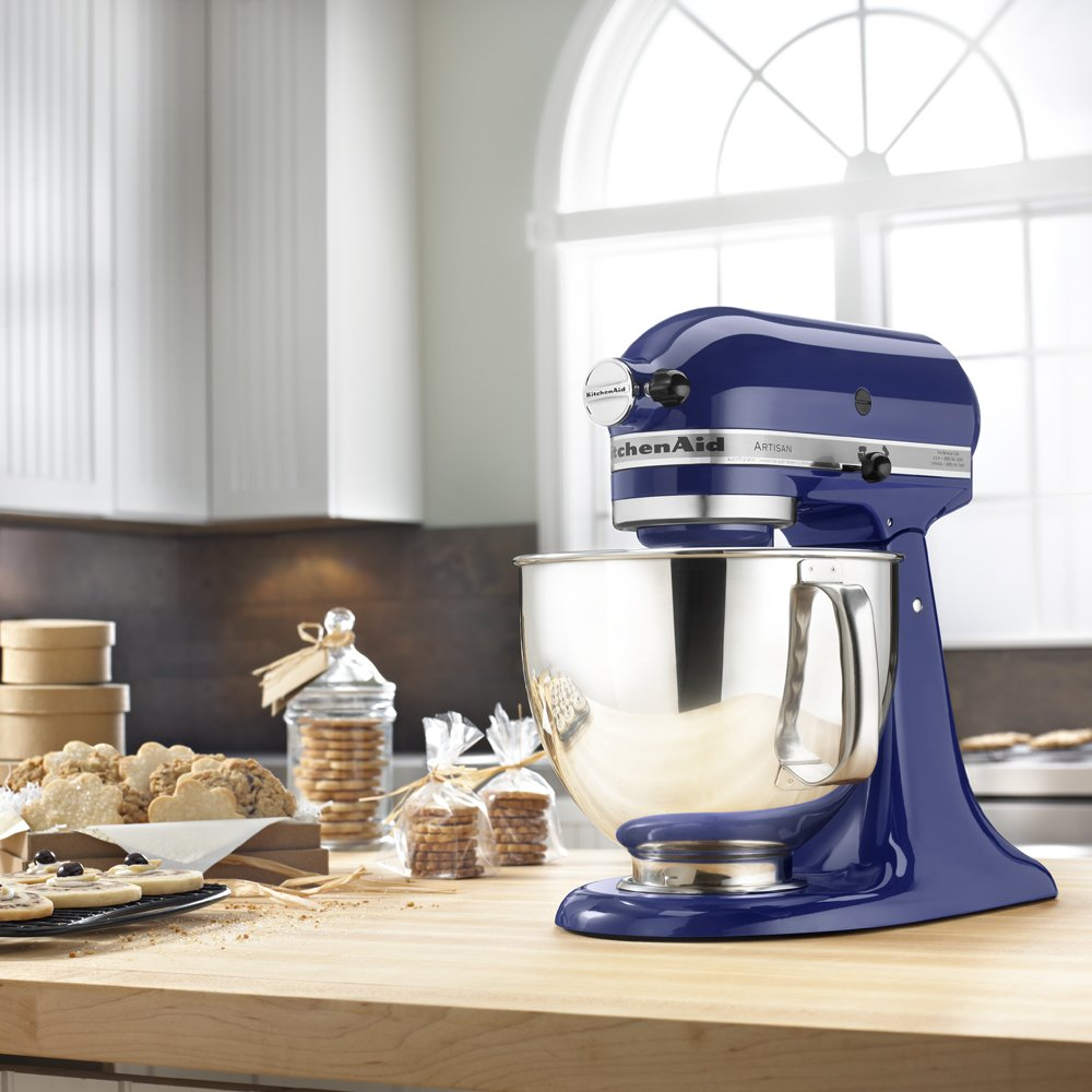 KitchenAid KSM150PSBU Artisan Series 5-Qt. Stand Mixer with Pouring Shield - Cobalt Blue by KitchenAid (Image #3)