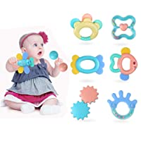Deals on Baby Toys Rattle Teething Toys 8 PCS