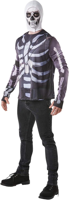 Fortnite - Disfraz camiseta Skull Trooper para adulto, Talla S (Rubies 300196-S)