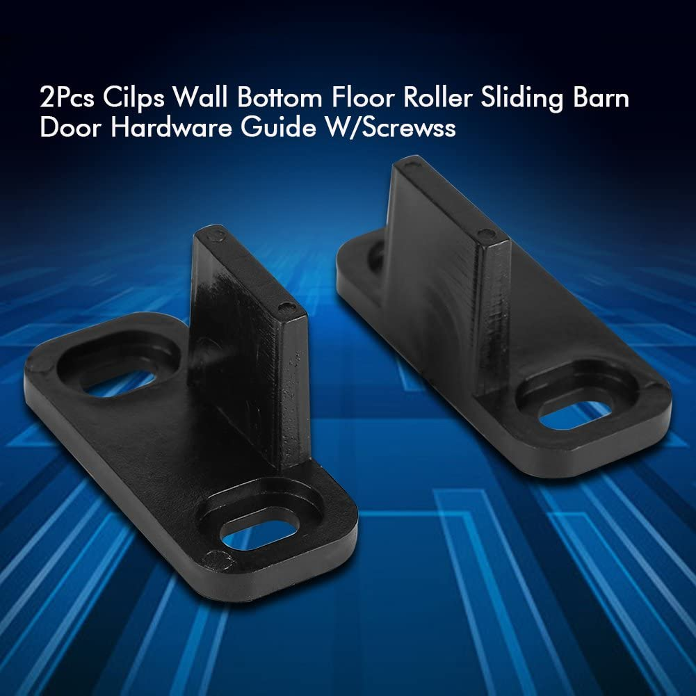 Asixx Adjustable Sliding Bottom Floor Guide Clip for Barn Door Hardware with Screws Barn Door Floor Guide