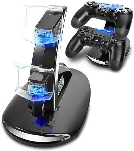Cargador Mandos PS4,Musou Estación de carga rápida con LED ...