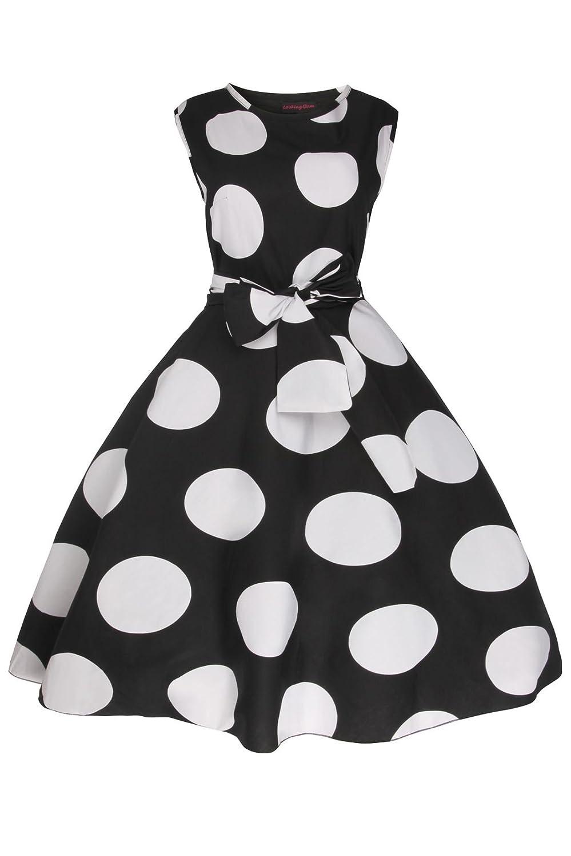 Ladies 1950's Retro Vintage Pin Up Swing Party 40's Tea Dress