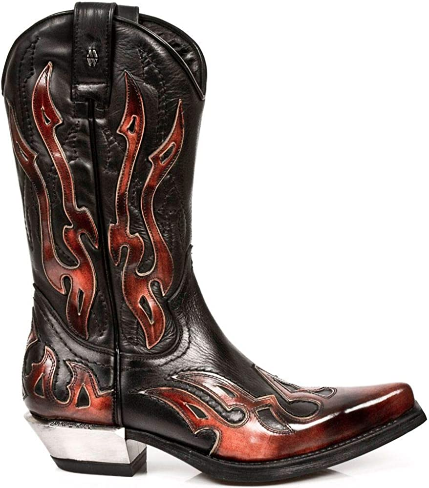 New Rock Boots Style 7921 S2 Red /& Black