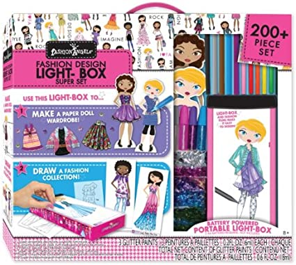 Amazon Com Travel Lightbox Fashion Design Super Set Toys Games