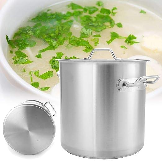 ThyWay - Olla de acero inoxidable para cocina (35/40/45/50 ...