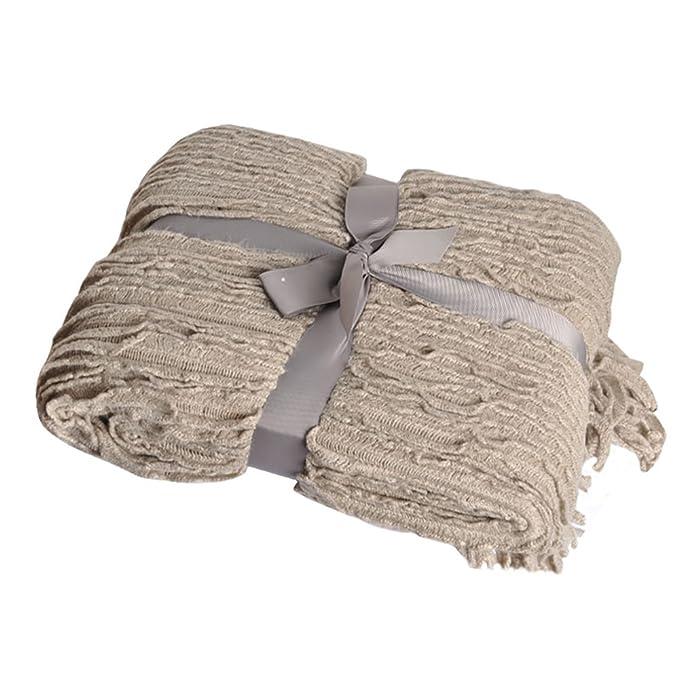 Amazon Battilo Charlotte Ruffled Acrylic Soft Decorative Throw Unique Charlotte Ruffled Throw Blanket