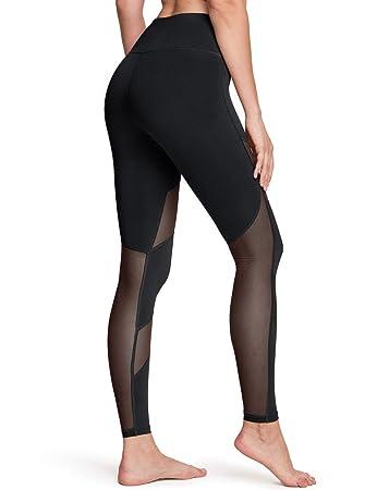 Amazon.com: TSLA - Pantalones de yoga con control de abdomen ...