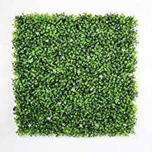 """Artificial Hedges Panels, Outdoor Plant Privacy Fence Screen, Boxwood Flower Decor, Pack of 6pcs 20""""x20""""/pc"""