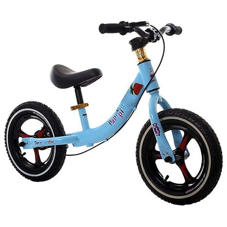 """GSDZSY -Bicicleta Sin Pedales, Bicicleta De Acero Ligero, con Freno, 12"""""""