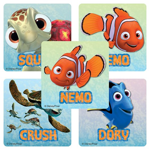 Disney Finding Nemo Stickers - Party Favors - 100 Per Pack ()