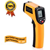 Digital Infrared Thermometer, Non-Contact Laser IR Temperature Gun Instant-read with 2 AAA Batteries(Included) Emissivity 0.95(fixed) Range -50 to 380℃(-58 to 716℉)