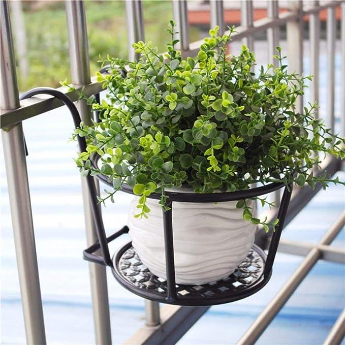 LY77 Estante de Flores Soporte de Planta Pérgola Balcón Barandilla ...