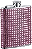 "Visol ""Kylie"" Bling Stainless Steel Hip Flask, 6-Ounce, Pink"