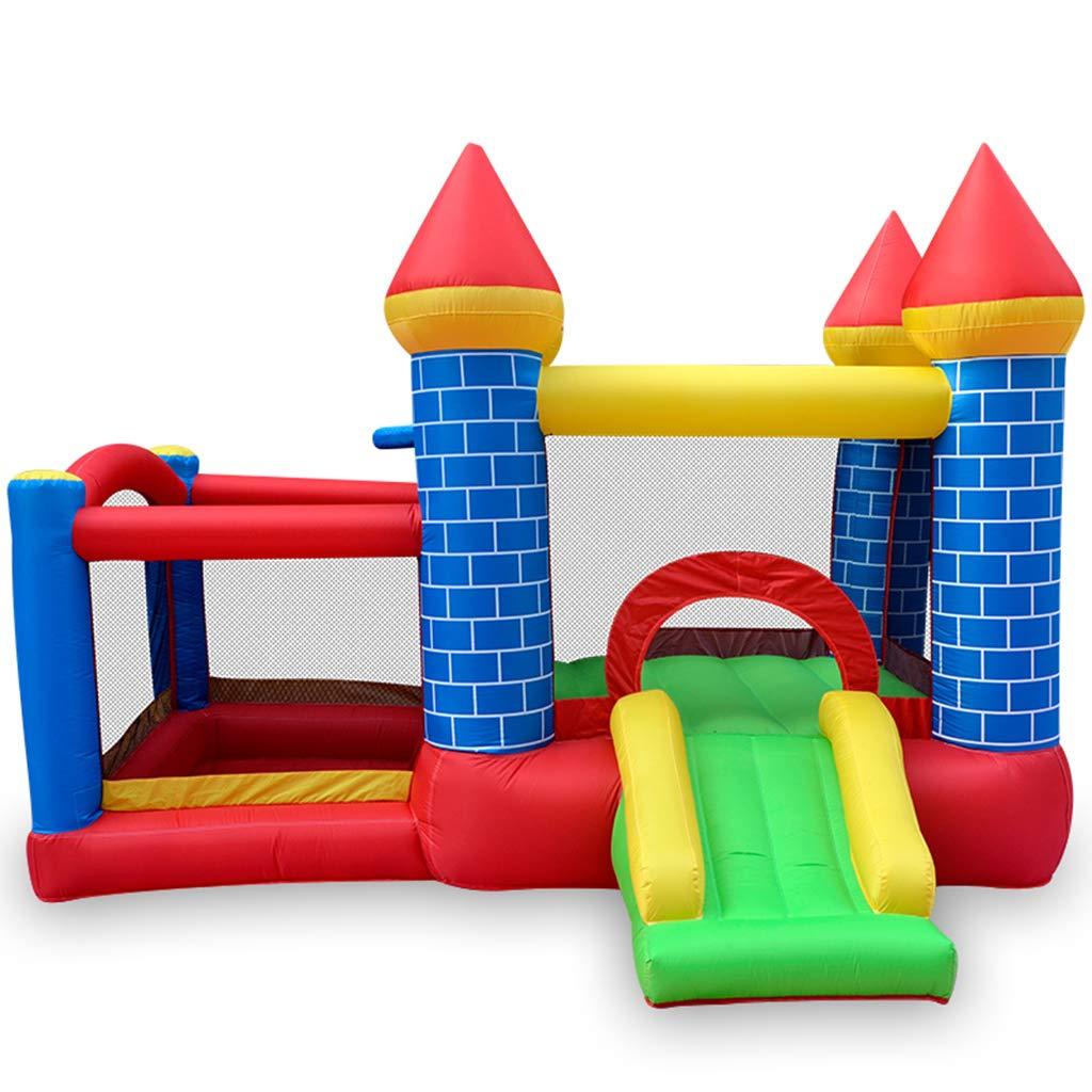 HETAO Combo Large Bouncy Castle, Parque De Atracciones Infantil Trampoline con Ventilador para Niños Y Tobogán Acuático