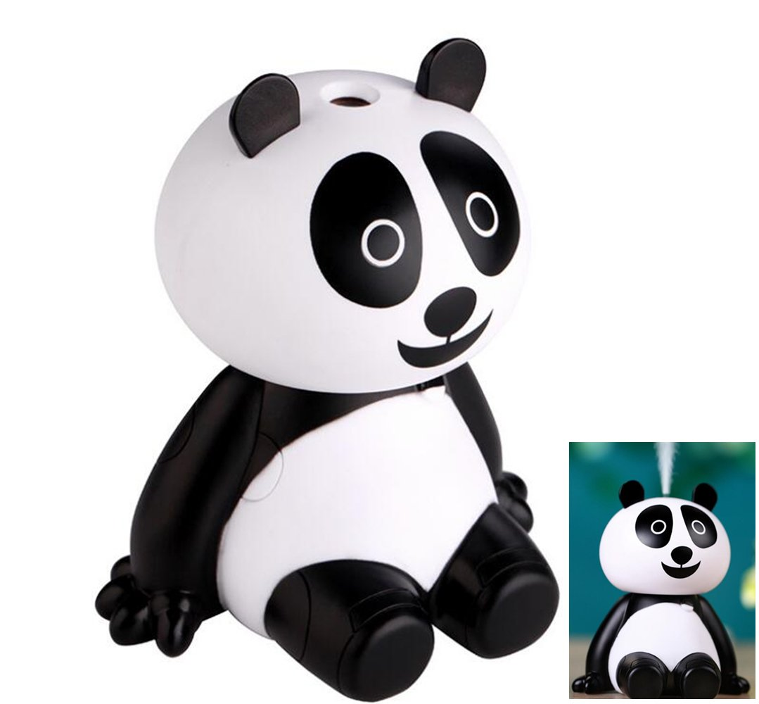 ISHOWStore USB Car Humidifier UltraSonic Cool Mist 120ml Mute Portable Panda Design for Baby Room Office Home Bedroom Living Room Study Yoga Spa