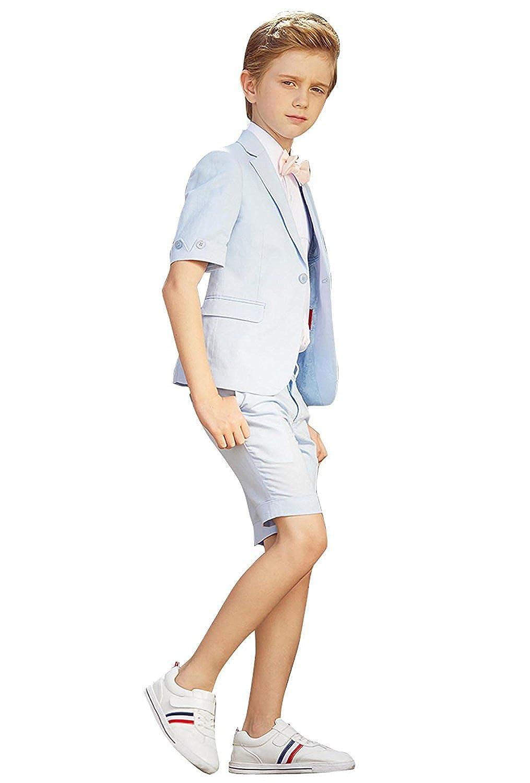 Amazon.com: Toddler Boys 3 Piece Slim Fit Formal Dress Suit ...