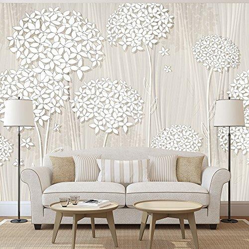 Vlies Fototapete 250x175 cm - 3 Farben zur Auswahl - Top - Tapete - Wandbilder XXL - Wandbild - Bild - Fototapeten - Tapeten - Wandtapete - Wand - Blumen Abstrakt b-C-0008-a-b