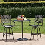 Cheap Arianna Outdoor Aluminum Bar Set with Patina Copper Finish (3)