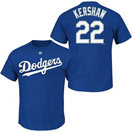 Majestic Clayton Kershaw Los Angeles Dodgers Blue Youth Jersey Name and  Number T-shirt Medium f9be244086e