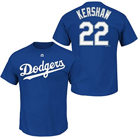 Amazon.com   Majestic Clayton Kershaw Los Angeles Dodgers Blue Youth Jersey  Name and Number T-shirt Medium 10-12   Sports   Outdoors c3428a34a86