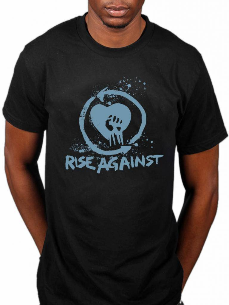 Official Rise Against Heart Fist T-Shirt Melodic Hardcore Rock Band Music Tim McIlrath