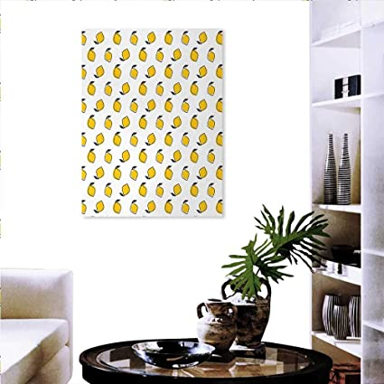 Amazon.com: Yellow White Modern Wall Art Living Room ...