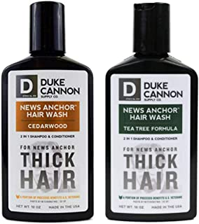 product image for Duke Cannon Supply Co. - Mens News Anchor 2-in-1 Shampoo Conditioner Set (2 Piece Set) This Combination Set Includes 10 oz 2-in-1 Shampoo & Conditioner Cedarwood and Tea Tree