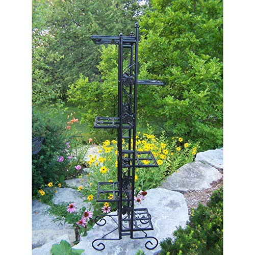 Black Wrought Iron Stand - Oakland Living Corporation Black Wrought Iron 6-Level 65-inch Plant Stand