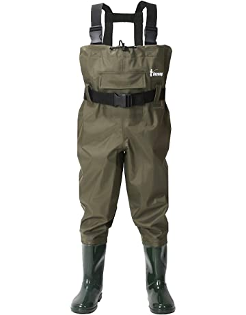 d95e1649c3e Ouzong Chest Waders for Kids