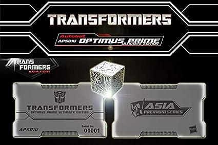 Transformers Ultimate Edition APS01U Optimus Prime: Diecast Mini Allspark Cube Bonus Accessory: Amazon.es: Juguetes y juegos