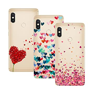 Young & Ming Xiaomi Redmi Note 5 Funda, [3 Pack] Carcasa Transparente Slilicona Suave TPU Gel Enjaca Perfecta para Xiaomi Redmi Note 5, Color 1