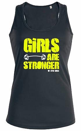 409cd4601f2e5 Camiseta sin mangas para mujer Las chicas son más fuertes Girls are Stronger  - 9 colores  Amazon.es  Deportes y aire libre